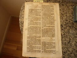 """(Bible Leaf) Leaf from the King James """"She"""" Bible printed in 1613.    #14-338"""