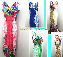 Plus Size V Style Sexy Sleeveless MAXI Evening Summer Dress Beach Sundress $7.40