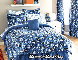 BOYS Modern BLUE CAMO Camouflage Army Hunting Cabin Bedding Comforter Set+Sheets