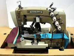 UNION SPECIAL Cover Stitch 3-Needle 5-Thread w Binder Industrial Sewing Machine