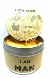 I Am Man 4 ounce Soy Candle Blend of Tobacco Bourbon and Fierce $10.63