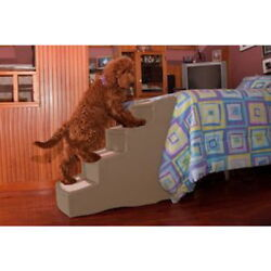 Pet Gear Easy Step IV 4 Step Dog Cat Furniture Bed Ramp Stairs Chocolate or Tan $129.98