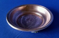 Antq Primitive Copper Kitchen Decor Haning Sieve Strainer Rolled Edge Punched $135.79