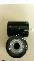 A Pair of Brand New Pallet Jack Poly Load Wheels With Bearings