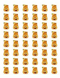 48 CUTE COUNTRY HALLOWEEN BEAR ENVELOPE SEALS LABELS STICKERS 1.2quot; ROUND $2.25