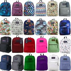 JANSPORT SUPERBREAK BACKPACK 100% AUTHENTIC SCHOOL BAGBLACKREDGREYBLUEWHITE