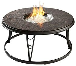 Outdoor Greatroom Granite 42 Inch Round Gas Fire Pit Table New
