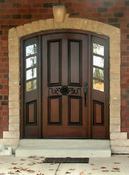 Hand-Crafted Solid Mahogany Wood Entry Doors by Monarch Custom Doors 61