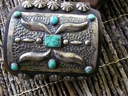 Navajo Keto early hand hammered - set with Turquoise