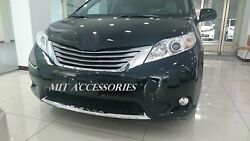 for TOYOTA SIENNA 2011 2017 front lower grill chrome garnish trim molding cover $59.00