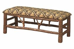 Amish Hickory Twig Log Bench 48