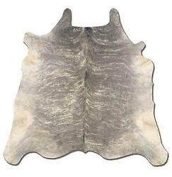 Home Decor Gray Nature Leather Accent Natural Full Skin Brazilian Cowhide Rug