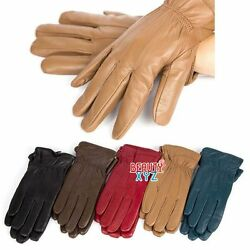 New Women#x27;s Winter Warm Genuine Leather Gloves Thermal Insulation Lambskin $12.99