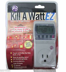 Kill A Watt EZ Appliances Electricity Power Energy Usage Monitor Cost Calculator $44.99