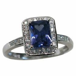 GORGEOUS 1.5 CT TANZANITE 925 STERLING SILVER RING SIZE 5-10