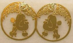 Poodle Jewelry Show Poodle Post Earrings by Touchstone Dog Designs $42.50