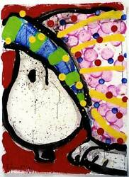 Tom Everhart - Does This Make Me Look Fat - Snoopy - Original Acrylic - Peanuts