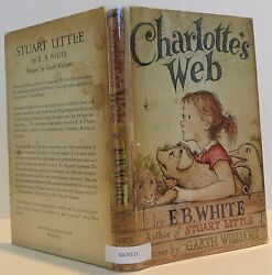 E.B. WHITE Charlotte's Web SIGNED FIRST EDITION
