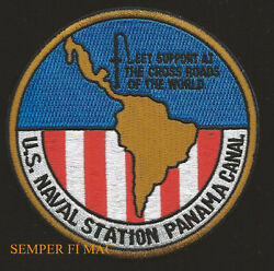 NAS PANAMA CANAL NAVAL STATION PATCH US NAVY VETERAN USS PIN UP SAILOR GIFT WOW $12.84