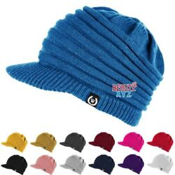 woman man Winter Visor Beanie Knit Hat Cap Crochet Men Women Ski Warm