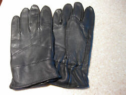 NEW BLACK LEATHER DRIVING GLOVES PAIR MEDIUM $14.95