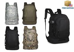 40L Outdoor Expandable Tactical Backpack Military Sport Camping Hiking Trekking $32.99