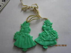 light green early plastic celluloid ? pair of dutch girlsdecorationsornaments $7.99