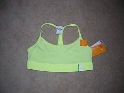 Champion Bra Top Women#x27;s Size Medium Yellow NWT NEW $26.95