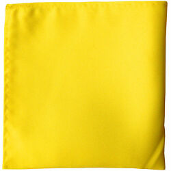 New men#x27;s polyester solid yellow hankie pocket square formal wedding party prom $6.95
