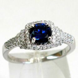 CHARMING 1 CT  TANZANITE  925 STERLING SILVER RING SIZE 5-10