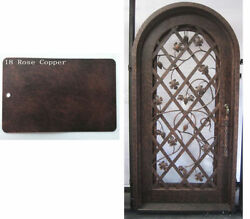 Hand-Crafted Wrought Iron Entry Door by Monarch Custom Doors 31
