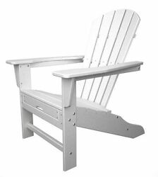 South Beach Ultimate Adirondack with Hideaway Ottoman in White