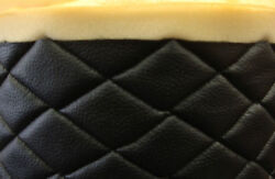 Vinyl Upholstery black diamond Quilted fabric with 3 8quot; Foam Backing by yard $29.00