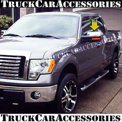 For FORD F150 2009 2010 2011 2012 2013 2014 Chrome 2 Top Cap Mirror Covers