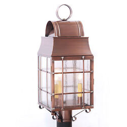 Primitive Colonial Country Tinware Washington Post Lantern Light * 2 Finishes *
