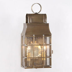 Primitive Rustic Country Colonial Washington Wall Lantern Light * 2 Finishes *