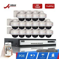 1080P POE 16CH NVR Network HD Vandalproof Outdoor CCTV Security Camera System