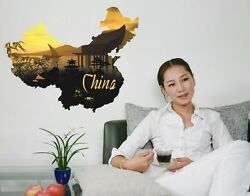China Map Wall Decal Stickers $29.95