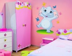 Dancing Elephant Wall Decal Stickers $49.95