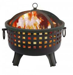 Large Fire Pit Bowl Garden Light Portable Outdoor Heater Fireplace Barbecue NEW