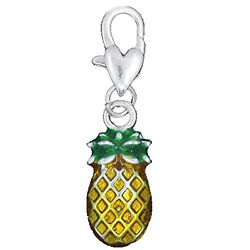 Pineapple Clip on Pendant for European Charm Jewelry w Lobster Clasp $7.99