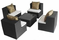 Art-Deck-Oh! Geo-Cube Interlocking All-weather Wicker Furniture Set