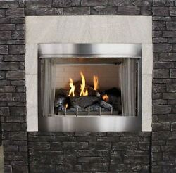 Outdoor Premium 36 Traditional IP Fireplace with Log set LP