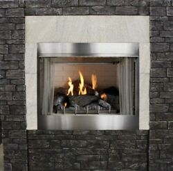 Outdoor Premium 42 Traditional MV Fireplace with Log set NG