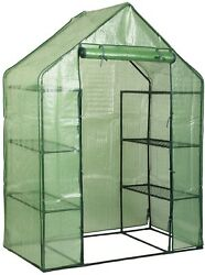 Walk In 6 Shelves Greenhouse Portable Mini Outdoor 4 Tier Green House New