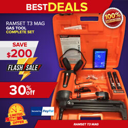 RAMSET T3 MAG GAS TOOL BRAND NEW FREE TABLET EAR MUFFS FAST SHIP
