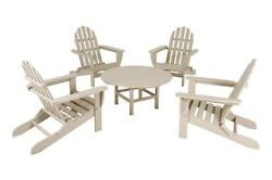 POLYWOOD Classic Adirondack 5-Piece Conversation Group in Sand