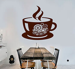 Vinyl Wall Decal Coffee Shop Cup Kitchen Decor Stickers Mural ig3987 $49.99