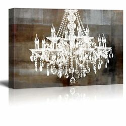 Wall26 Canvas Crystal Chandelier on Abstract Vintage Background 24quot;x36quot; $44.34