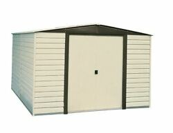 Vinyl Dallas 10x12 Shed - Coffee  Almond and Low Gable